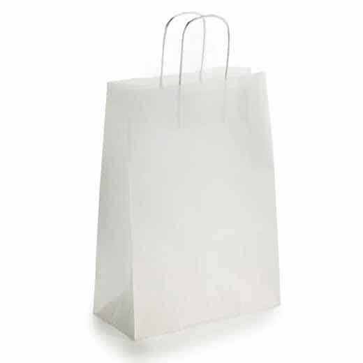 Popierinis dovanų maišelis (baltas)