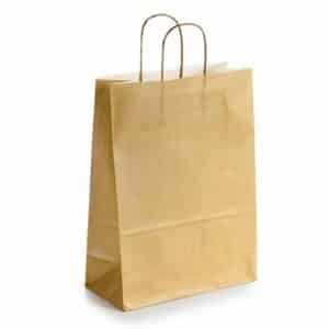 Popierinis dovanų maišelis (rudas)