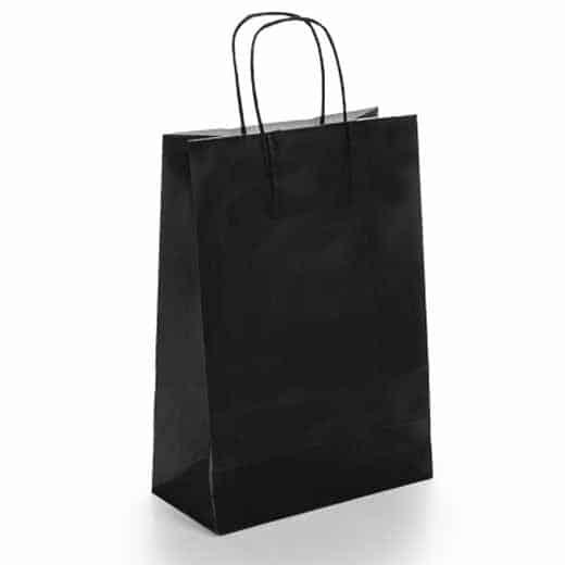 Popierinis dovanų maišelis (juodas)