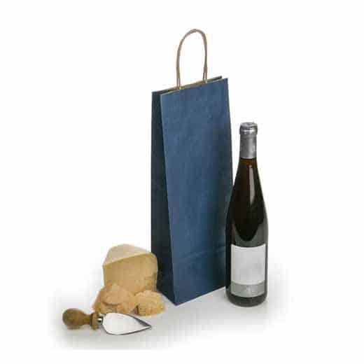 Mėlynas popierinis maišelis (buteliui)