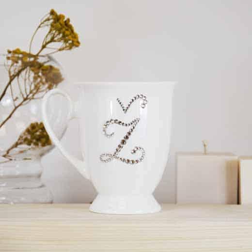 """Porcelianinis puodelis su """"Ž"""" raide"""