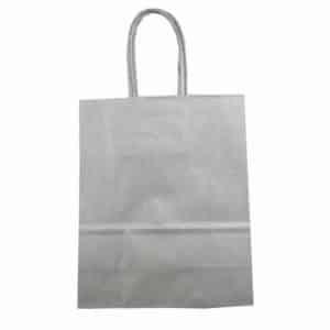 Popierinis dovanų maišelis (sidabrinės sp.)