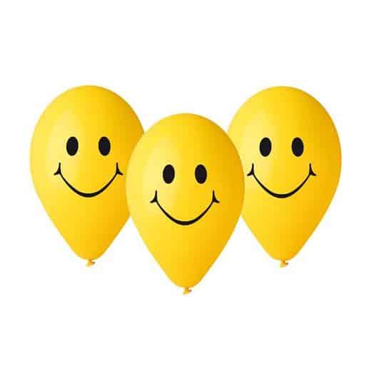 """Guminiai balionai """"Šypseniukas"""" 30cm/5vnt"""