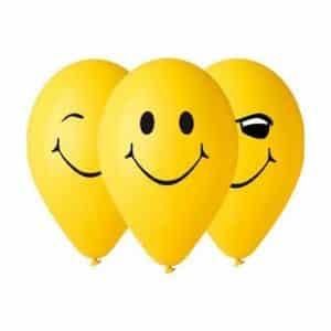 """Guminiai balionai """"Šypseniukai"""" 30cm/5vnt"""