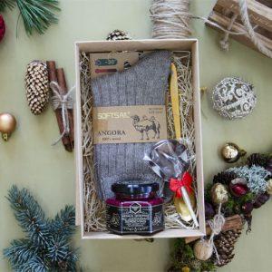 Kalėdinis rinkinys kojinės ir medus