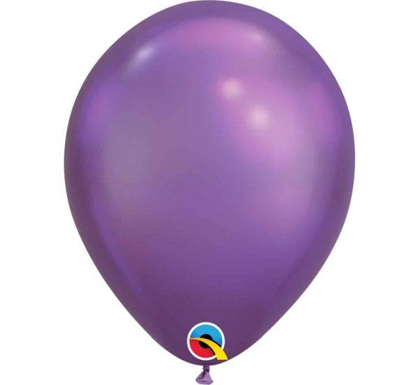"Chrominiai latekso violetiniai balionai Q11"""