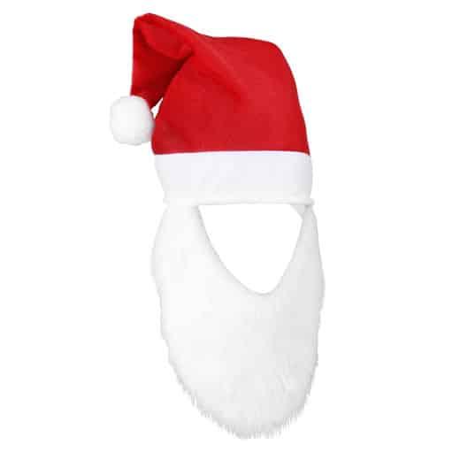 Kalėdų senelio kepurė su barzda