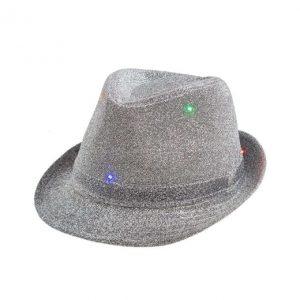 Šviečianti skrybėlė (pilka)
