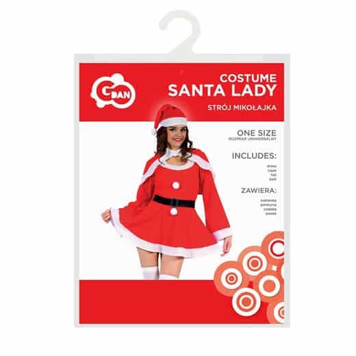"""Santa lady"" kostiumas"