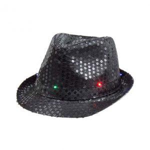 Skrybėlė su LED lemputėmis (juoda)