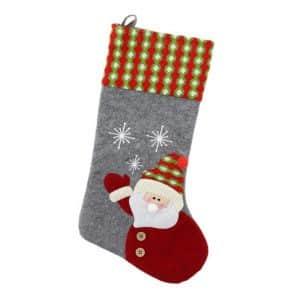 Kalėdinė kojinė su veltiniu