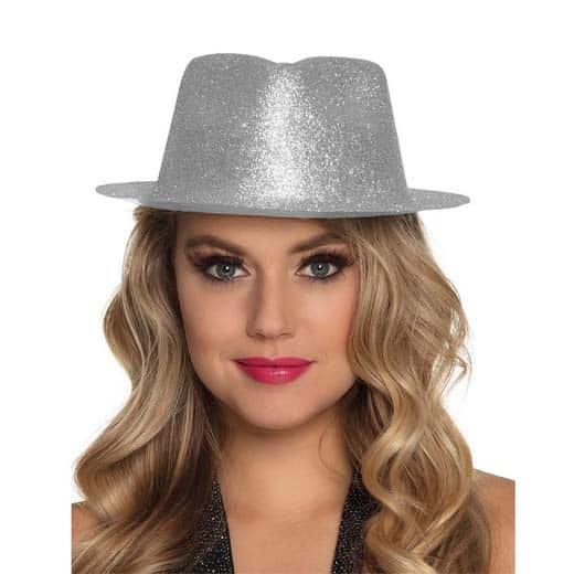 Blizganti skrybėlė (sidabrinė)