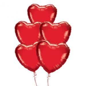 Folinių širdelių puokštė (5vnt.)