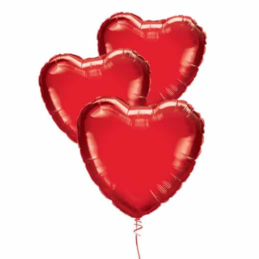 Folinių širdelių puokštė (3vnt.)