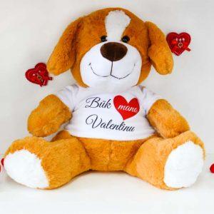 """Pliušinis šuniukas """"Būk mano Valentinu"""" 33cm."""