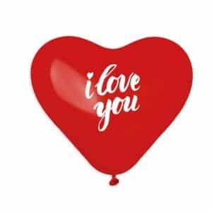 """Širdelės formos balionai """"I love you"""""""