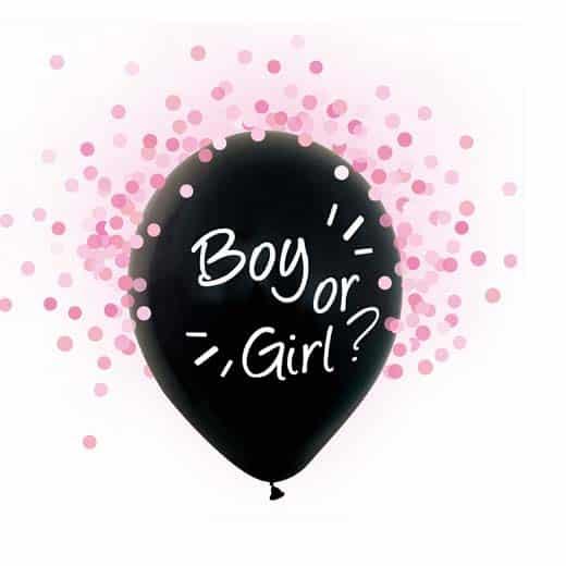 "Balionai ""Boy or Girl"" (rožiniai konfeti)"