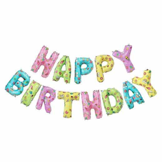 """Foliniai balionai raidės """"HAPPY BIRTHDAY"""" 35cm/17"""""""