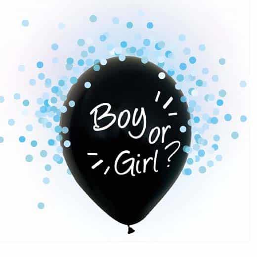 """Balionai """"Boy or Girl"""" (mėlyni konfeti)"""