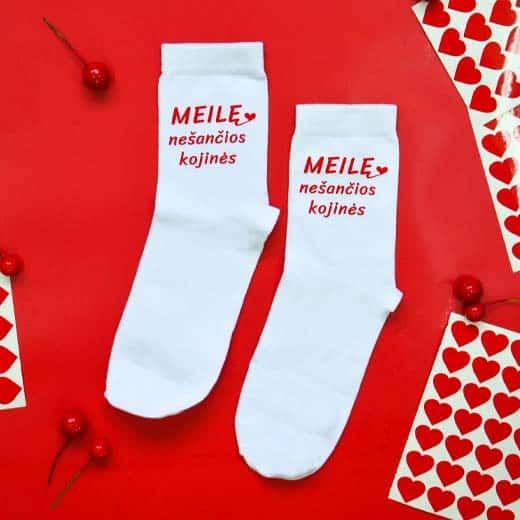 """Moteriškos """"Meilę nešančios"""" kojinės"""