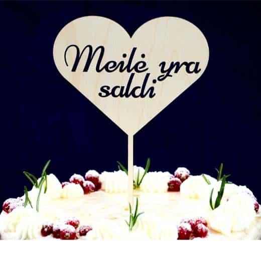 """Torto smeigtukas """"Meilė yra saldi"""" 21cm"""