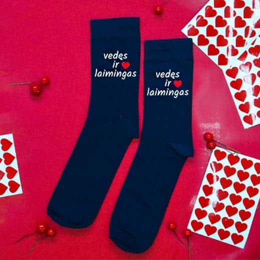 """Kojinės """"Vedęs ir laimingas"""""""
