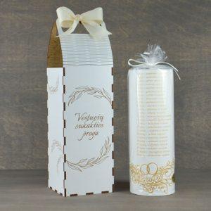 """Žvakė """"Vestuvių metinės"""" su dėžute"""