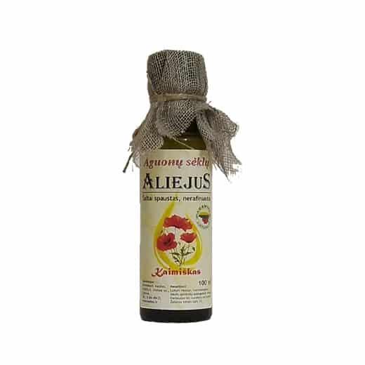 Šalto spaudimo aguonų sėklų aliejus