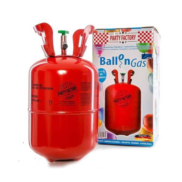 Helio dujos balionams. Cilindro tūrio pakanka pripūsti 30 balionų.