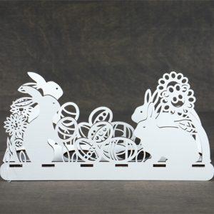 Velykinė dekoracija kiaušinių padėkliukas