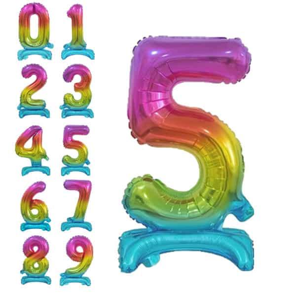 Pastatomi balionai skaičiai