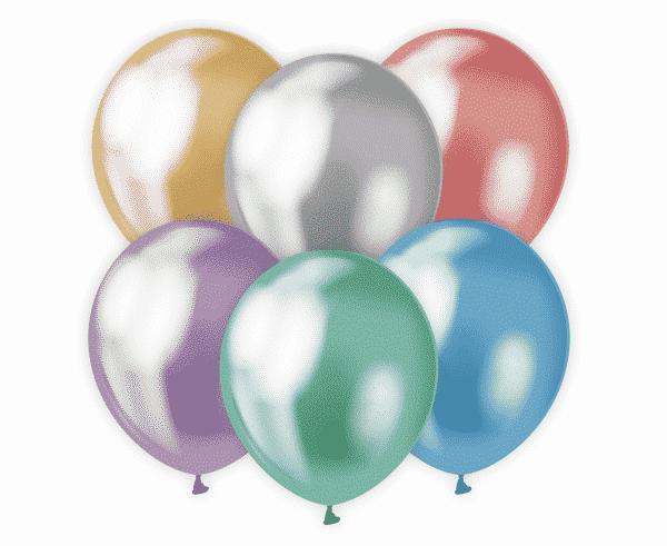 Spalvoti platininiai chrominiai balionai