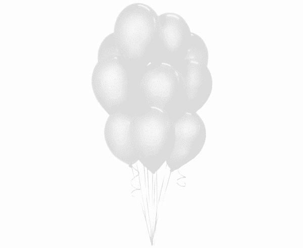 Balti guminiai balionai