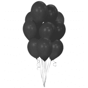 Juodi guminiai balionai