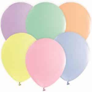 Spalvoti pasteliniai balionai