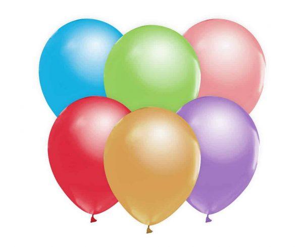 Spalvoti perlamutriniai balionai