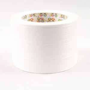 Polipropileno juostelė su raštu, baltos spalvos 8cm/45m