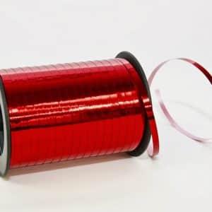 Polipropileno juostelė 0,5cm/230m/metalizuotos raudonos spalvos