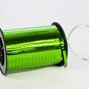 Polipropileno juostelė 0,5cm/230m/metalizuotos žalios spalvos