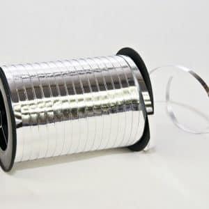 Polipropileno juostelė 0,5cm/250y/metalizuotos sidabro spalvos