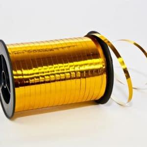 Polipropileno juostelė 0,5cm/230m/metalizuotos aukso spalvos