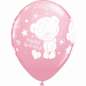 """Guminiai balionai """"Happy Birthday"""" su meškiukais 11""""/25vnt"""