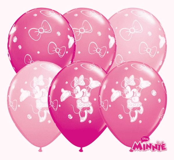 """Guminiai balionai pastelinės spalvos """"Minnie"""" 11""""/25vnt"""