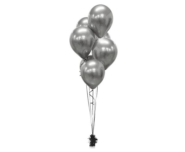"Metalizuoti guminiai balionai grafito sp./12""/50vnt"
