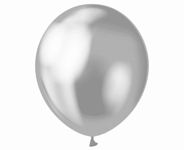 """Guminiai balionai platininio sidabro sp./12""""/50vnt"""