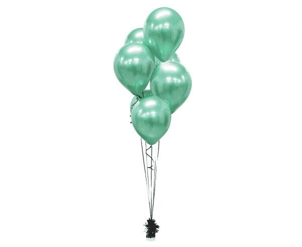 Žali platininiai chrominiai balionai