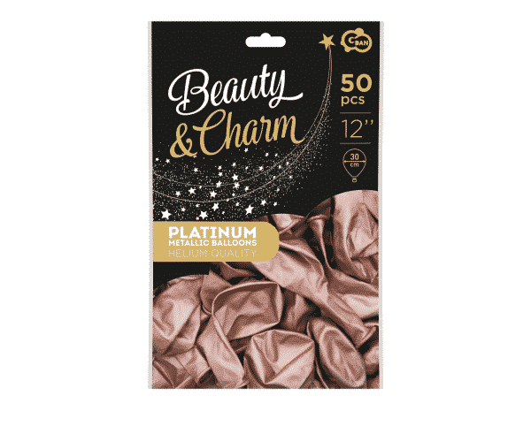 Platininio rožinio aukso chrominiai balionai