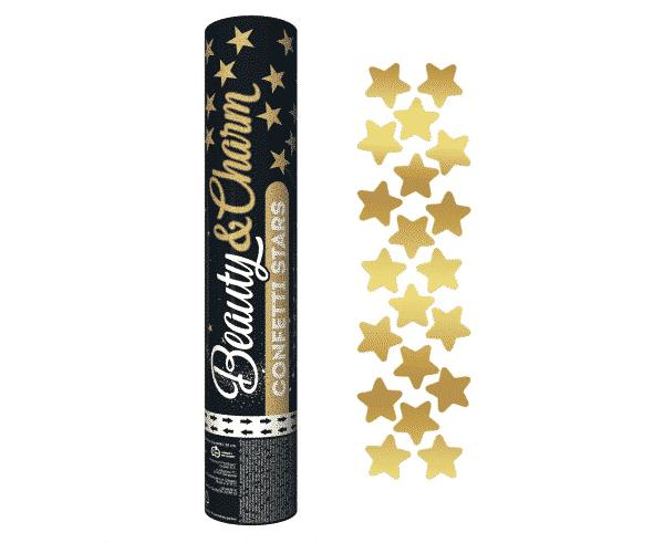 Konfeti aukso spalvos žvaigždės 30cm