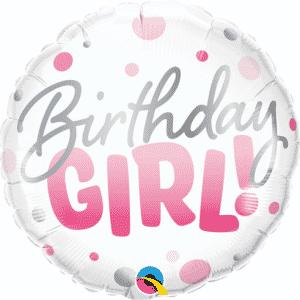 "Folinis balionas ""Birthday Girl!"" 18""/46cm"