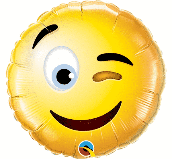 "Folinis balionas ""Smiley Wink"" 9"""